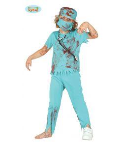 Zombie Surgeon kostume til drenge.