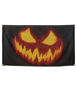 Creepy Pumpkin flag til halloween.