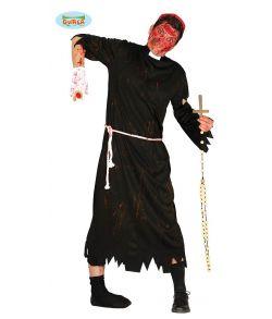 Billigt Zombie præst kostume til voksne.