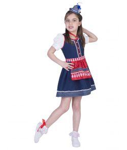 Billig Oktoberfest kjole med forklæde til børn.