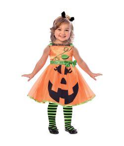 Flot græskar kjole til små piger til halloween.