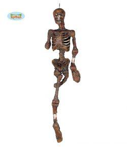 Brændt skelet med lys 100 cm.