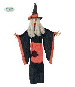 Hængende heks med hør kjole og bøjelig arme.