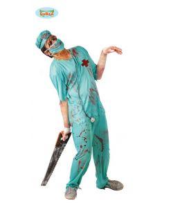 Zombie doktor kostume til halloween.