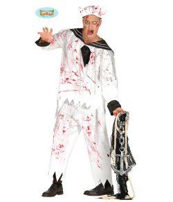Billigt halloween matros kostume til voksne.