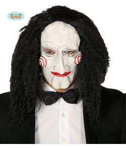 SAW Billy Puppet latex maske med hår.