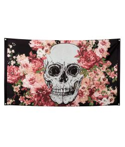 Day of the dead flag, 150x90 cm.