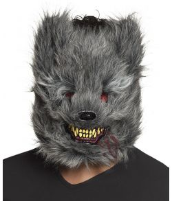 Varulv maske med pels.