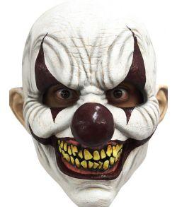 Chomp Clown maske, uhyggelig klovnemaske i latex.
