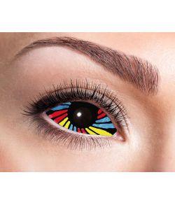 Regnbue Sclera linser der dækker hele øjet.