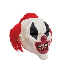 Crazy Clown maske til halloween.
