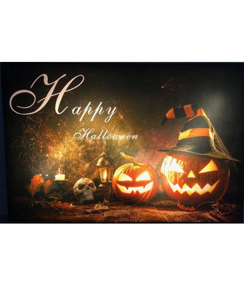 Billede Happy Halloween med lys.