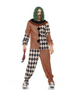 Uhyggeligt halloween klovne kostume.