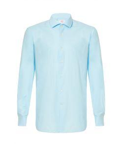 Billig ensfarvet lyseblå skjorte fra OppoSuits.