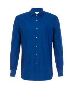Billig ensfarvet mørkeblå skjorte fra OppoSuits.