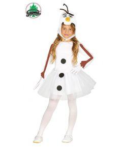 Billigt snemand kostume til piger.