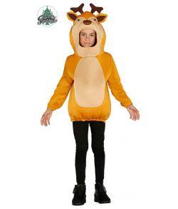 Sjov rensdyr kostume til børn.