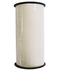 Hvidt polybånd, 10mm x 50 m.