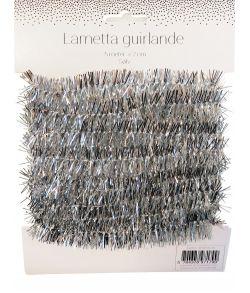 Lametta guirlande, sølv. 5 m.