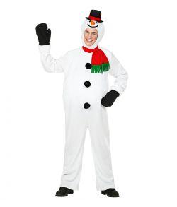 Snemand kostume til voksne.