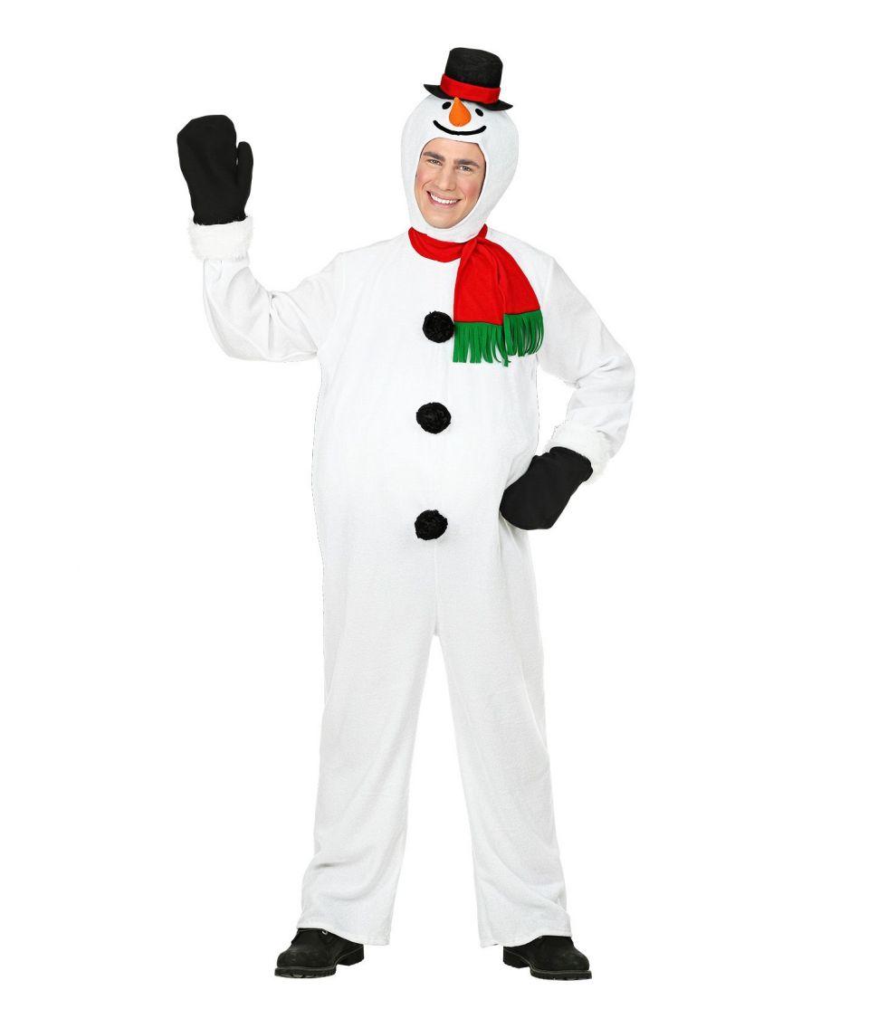 Snemand kostume til voksne. - Fest & Farver