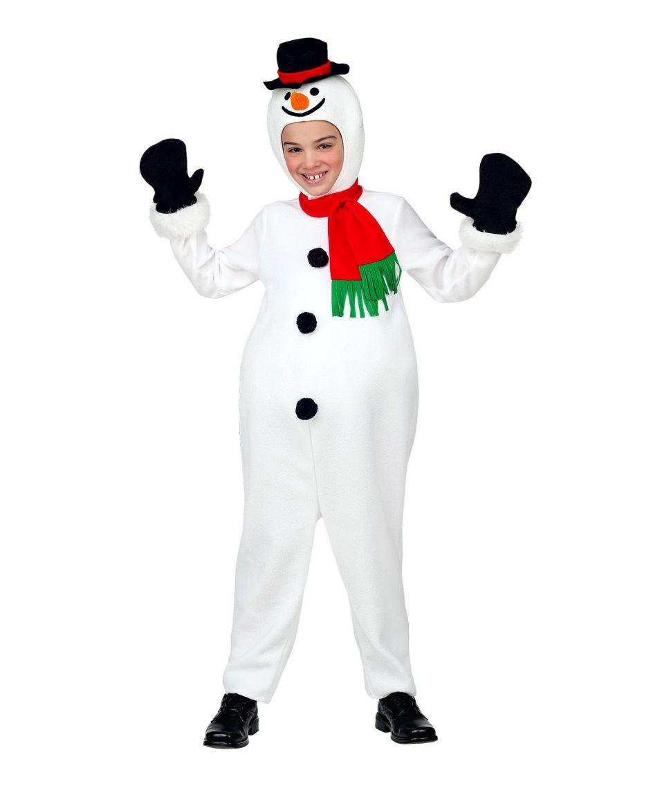 Billigt Snemand kostume til børn.