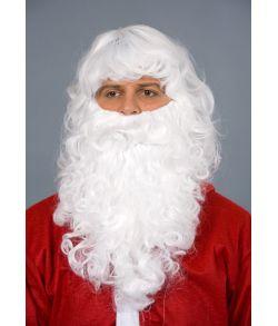 Flot julemand paryk med skæg i god kvalitet.