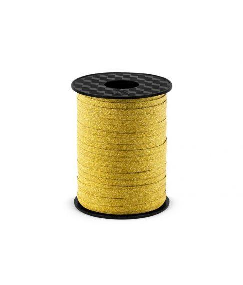 Gavebånd, guld glitter 225m