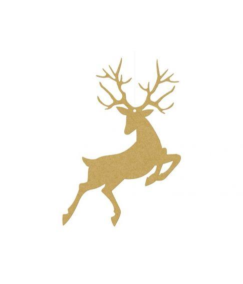 Rudolf dekoration guld