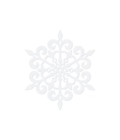Snefnug dekoration 13 cm