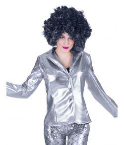 Disco jakke, sølv