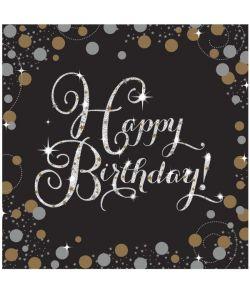 Servietter Sparklling Hap. Birthday