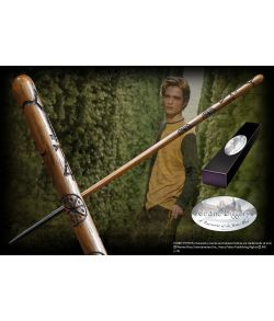 Cedric Diggorys Triwizard Champion tryllestav i æske med navneskilt.
