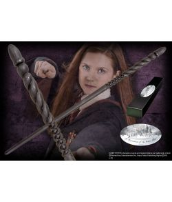 Ginny Weasleys tryllestav i æske med navneskilt. Character Wand.