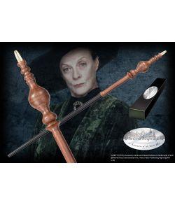Professor McGonagall tryllestav i æske med navneskilt. Character Wand.