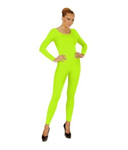 Neongrønt bodysuit med lange ærmer og ben.