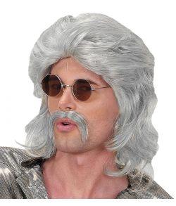 Grå paryk til 70er-80er udklædningen.