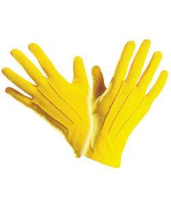 Gule handsker til kostume.
