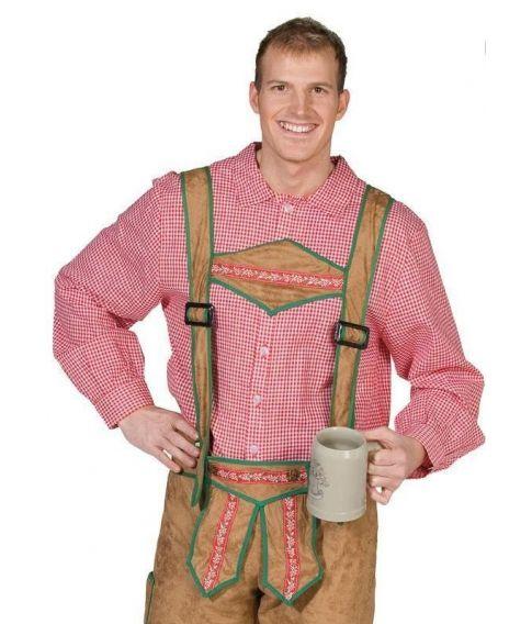 Rød og hvid ternet skjorte til tyroler eller cowboyudklædningen.