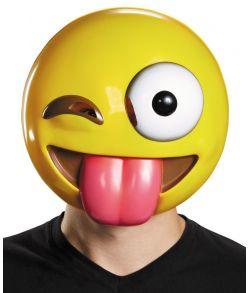 Emoji maske med tunge
