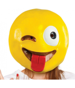 Crazy Wink Emoji maske