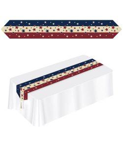 USA bordløber med striber og stjerner i de amerikanske farver.