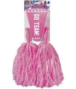 Pom Pom sæt med Megafon Pink