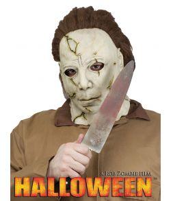 Michael Myers kniv i plastik med blodstænk.