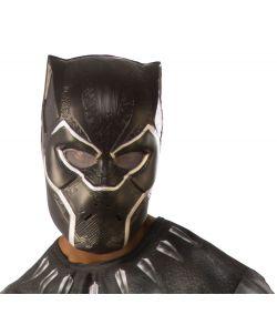 Black Panter maske i plastik til voksne.