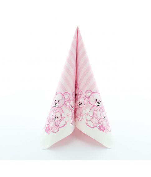 Bamser lyserød 20 stk. 33x33