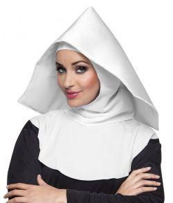 Hvid nonne hætte til nonne udklædningen.