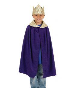 Konge kappe og krone, lilla