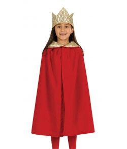 Konge kappe og krone, rød