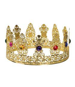 Guldfarvet metal Dronningekrone